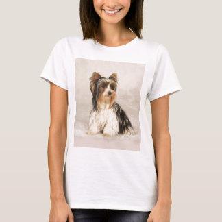Portrait Yorkie Miss Mia Photo painting T-Shirt