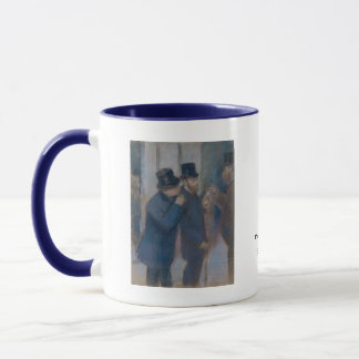 Portraits at the Stock Exchange by Edgar Degas Mug