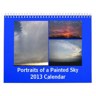 Portraits d'un ciel peint calendrier mural