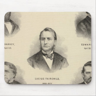 Portraits Governors of Wisconsin Louis P Harvey Mouse Pad