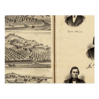 Portraits of Gen'l MG Vallejo, F Bedwell, HG Heald Postcard