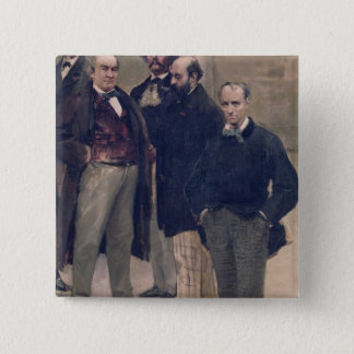 Portraits of literary figures 2 inch square button