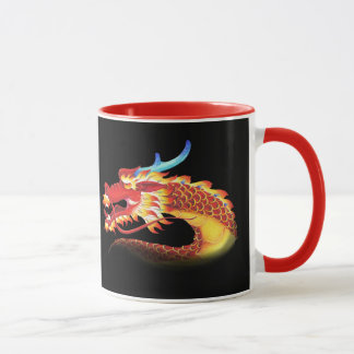 Portraits of Red Oriental and Occidental Dragons Mug