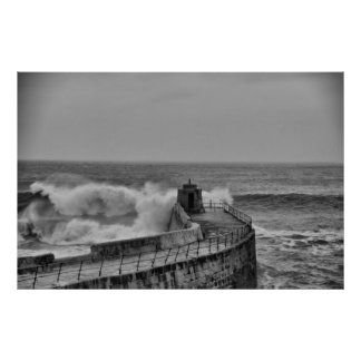 portreath waves poster