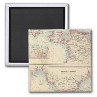 Ports and Harbours on the South Coast of England 2 Square Magnet