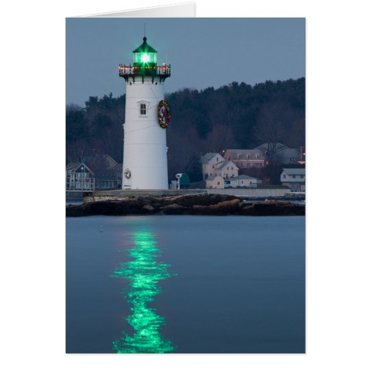 Portsmouth Harbour Light Decorated Card