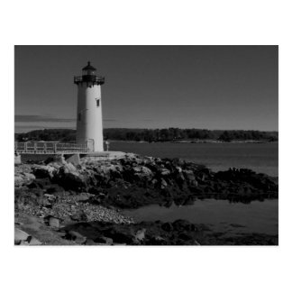 Portsmouth Harbour Lighthouse-B-W Postcard