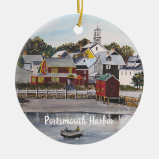 Portsmouth Harbour, New Hampshire Ceramic Ornament