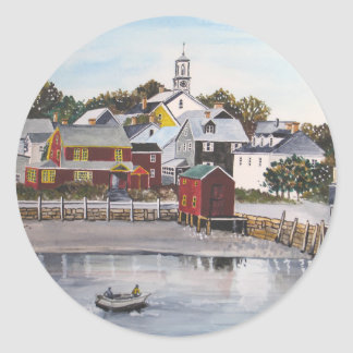 Portsmouth Harbour, New Hampshire Classic Round Sticker