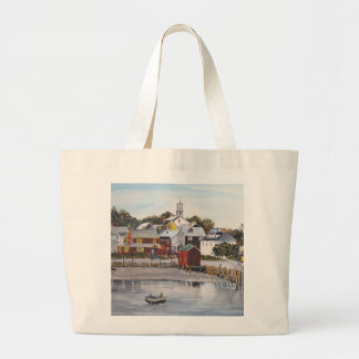 Portsmouth Harbour, New Hampshire Large Tote Bag