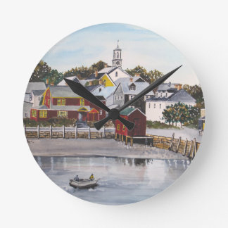 Portsmouth Harbour, New Hampshire Round Clock