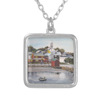 Portsmouth Harbour, New Hampshire Silver Plated Necklace