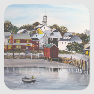 Portsmouth Harbour, New Hampshire Square Sticker