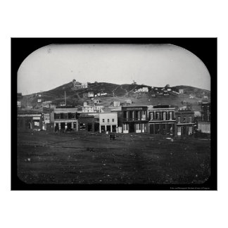 Portsmouth Square San Francisco Daguerreotype 1851 Poster