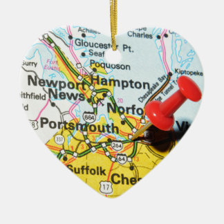 Portsmouth, Virginia Ceramic Ornament