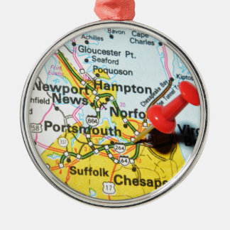 Portsmouth, Virginia Metal Ornament