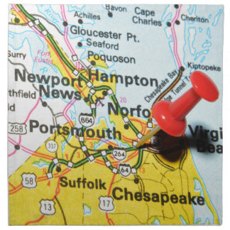 Portsmouth, Virginia Napkin