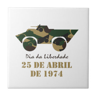 Portugal, 25 de Abril - Freedom Day Ceramic Tile