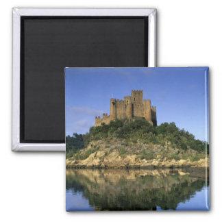 Portugal, Almourol. Castelo do Almourol built Square Magnet