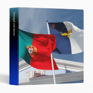 Portugal and Azores flags 3 Ring Binder