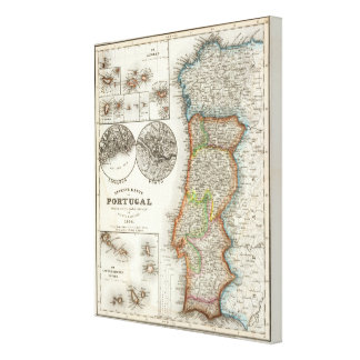 Portugal and Cape Verde Islands Canvas Print