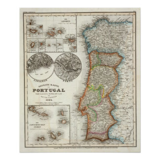 Portugal and Cape Verde Islands Poster