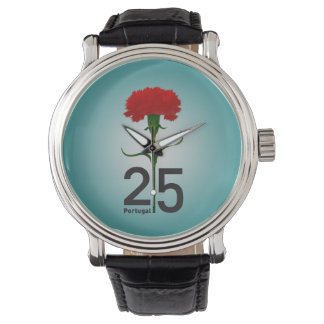 Portugal and red carnation watch