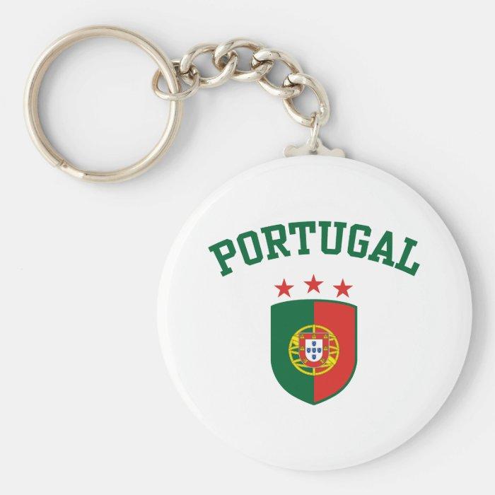 Portugal Basic Round Button Keychain