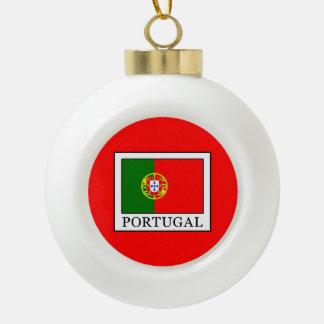 Portugal Ceramic Ball Christmas Ornament