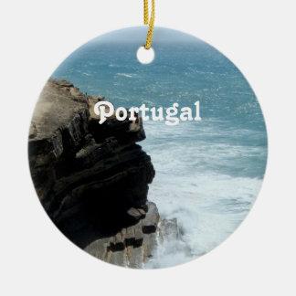 Portugal Coast Ceramic Ornament