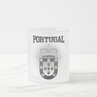 Portugal Coat of Arms Frosted Glass Coffee Mug