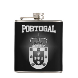 Portugal Coat of Arms Hip Flask