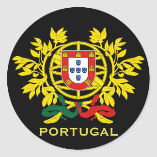 Portugal Coat of Arms Round Sticker