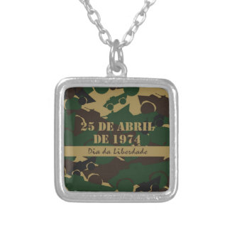 Portugal, Dia da Liberdade or Freedom Day Silver Plated Necklace