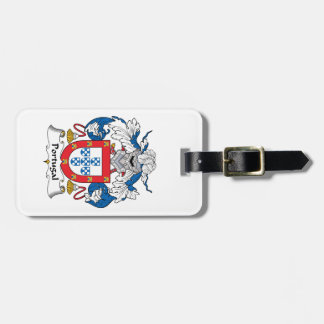 Portugal Family Crest Luggage Tag
