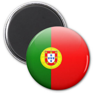 Portugal Flag 2 Inch Round Magnet