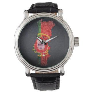 Portugal Flag and Map Wristwatch