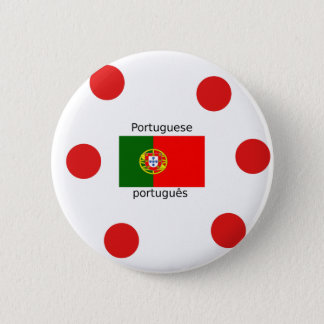 Portugal Flag And Portuguese Language Design 2 Inch Round Button