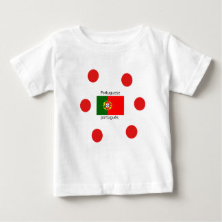 Portugal Flag And Portuguese Language Design Baby T-Shirt