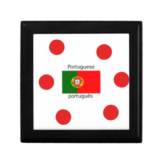Portugal Flag And Portuguese Language Design Gift Box
