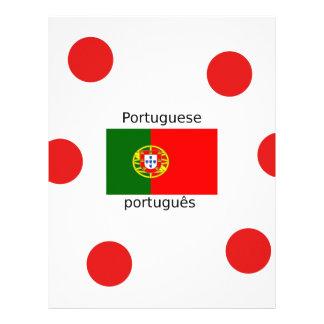 Portugal Flag And Portuguese Language Design Letterhead