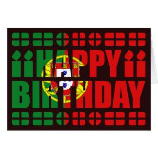 Portugal Flag Birthday Card