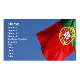 Portugal flag business card