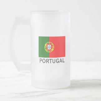 Portugal flag custom glass beer stein mug