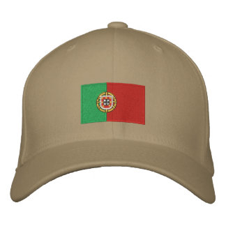 Portugal flag embroidered flexfit wool hat