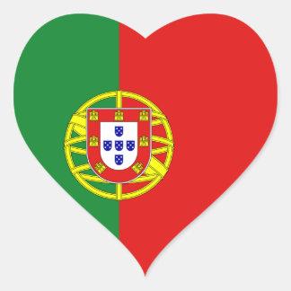 Portugal Flag Heart Sticker