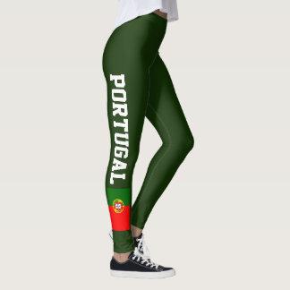 Portugal flag leggings for sport fitness yoga