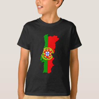 Portugal flag map T-Shirt