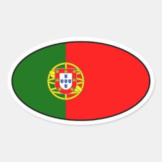 Portugal Flag Oval Sticker