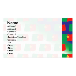 Portugal flag pattern business card